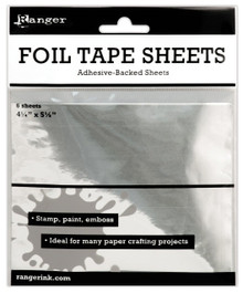 6 Sheet Package Ranger Inkssentials Metal Foil Tape Sheets, 4.25 by 5.5-Inch *