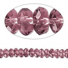 1 Strand Medium Purple 6x3mm Crystal Rondelle Disc Beads *