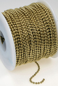 5 Feet Gold Brass Steel Bulk 2.4mm Ball Chain