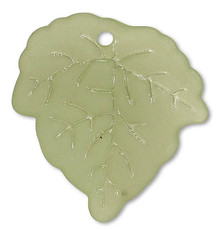 100 Acrylic Frosted Light Green 24x23mm Leaf Drop Charms