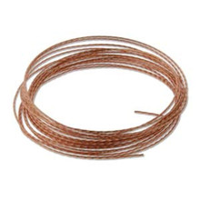 8 Feet Non Tarnish Natural Copper Twisted Square 18 Gauge Wrapping Wire