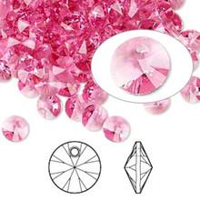12 Swarovski 6mm Xilion Rivoli Rose Crystal Beads (6428)