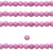 1 Strand Fuchsia Chalk Turquoise 4mm Round Gemstone B Grade Beads  *