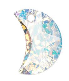 1 Swarovski Crystal AB 16x10mm Crescent Moon Pendant (6722)