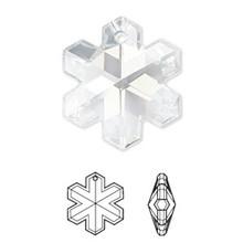 1 Swarovski Crystal Clear 20x17mm Snowflake Pendant (6704)