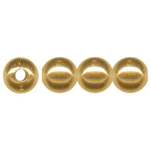 100 Gold Plated Brass Smooth 6.4mm Round Beads