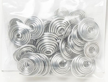 40 Silver Aluminum Spiral Swirl 14-18 Gauge Wire Connector Mix *