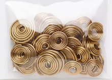 40 Gold Aluminum Spiral Swirl 14-18 Gauge Wire Connector Mix *
