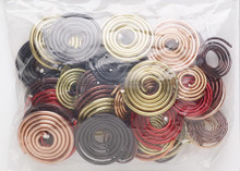 40 Aluminum Spiral Swirl 14-18 Gauge Wire Connector Color Mix *