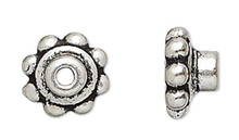 4 Antiqued Silver Plated Pewter Bead Aligners & Hole Adaptors To Stop Wobbles