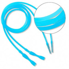 "4 Translucent Blue Silicone 18"" Cord Necklace with Snap Closure ~ Just Add Pendant"