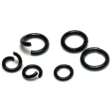 400 Black 4mm & 6mm Round 18 Gauge Open & Closed Jumpring Mix *