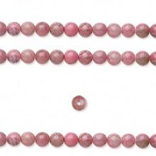 1 Strand Natural Pink Rhodonite 4mm Round Gemstone Beads