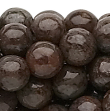 1 Strand Natural Brown Snow Flake Jasper 4mm Round Gemstone Beads