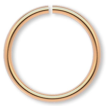 100 Gold Plated Brass 12mm Round 18 Gauge JumpRings