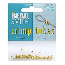100 Gold Crimp Tubes Crimping ~ 1.5x1.5mm