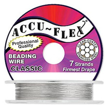 "100 Foot Spool Accu-Flex 7 Strand Clear 0.024"" Diameter Beading Wire"