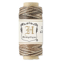 100 Foot Spool Brown Mix Hemp Cord ~ 0.5mm ~ 10lb Test ~ 3Ply