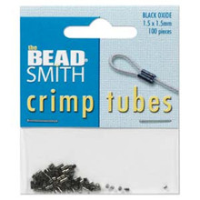 100 Black Oxide Crimp Tubes Crimping ~ 1.5x1.5mm