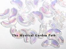 100 Aurora Borealis Crystal Angel Wings Leaves Glass Beads ~ 10x4mm