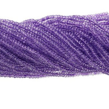 1 Hank Transparent Tanzinite Purple #11 Glass Seed Beads ~ Approx 4000 Beads