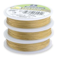 30 Foot OR 100 Foot Spool Gold Beadalon 7 Strand Beading Wire  ~ 0.015 Inch