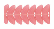 20 OR 100 Czech Glass Deep Opal Pink Angel Wing Beads  ~10x4x4mm *