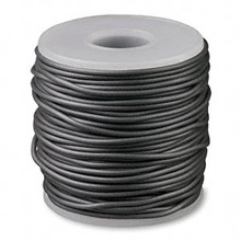 82 Foot Spool Solid Rubber 2mm  Pewter Grey Beading Cord