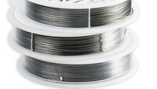 100 Foot Spool Beadalon ~ 7 Strand BRIGHT Bead Stringing WIRE  ~ 0.015""