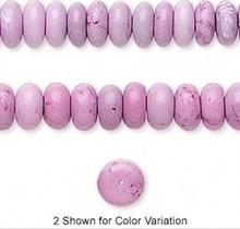 1  Strand Fuchsia Chalk Turquoise 8x5mm Rondelle Gemstone Beads  *