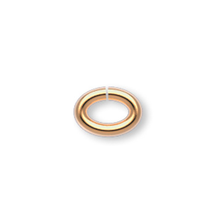 100 Gold Plated Brass 4.5x3mm OVAL 20 Gauge JumpRings