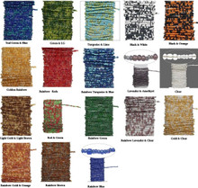 15 Feet Pre-Strung Beaded Brass Wire & Glass Seed Beads ~ Many Colors