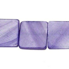 "15"" Mother of Pearl Grape Purple Flat Square Beads ~ MOP  17-18mm  *"