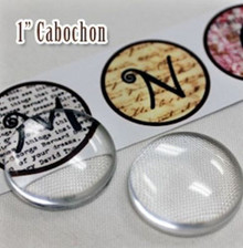 "6 Clear Acrylic Cabochons ~ Picture Pebbles  ~ 1/2"" OR 1""  ~ Magnifies Images"