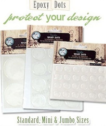 Clear Epoxy Dots  ~ Picture Pebbles ~ Seals Images ~Round  ~ Many Sizes