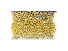 "65"" Gold Plated Steel Textured Twisted Oval Chain ~ 6x4mm Links *"