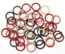 96 Aluminum Fall Mix 12 Gauge 10mm Round Jump Rings