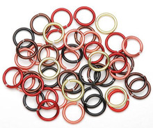 96 Aluminum Fall Mix 12 Gauge 10mm Round Jump Rings