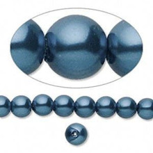 1 Strand Hemalyke Magnetic Pearl Beads ~ 6mm  Dark Blue *