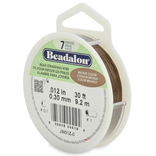 30 Foot Spool Beadalon 7 Strand BRONZE Stringing WIRE  ~ 0.012""