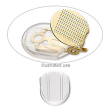 10 OR 100 Clear Soft Plastic Clip On Earring Comfort Pads  ~ Clip-Slip