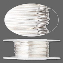 25 Foot Spool Sterling Silver Dead Soft Round Wrapping Wire  ~ 22 gauge