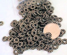 300 Antiqued Gold Plated Pewter Metal Daisy Spacer Beads ~ 6x1mm  *
