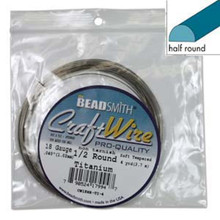 4 Yards Non Tarnish Titanium HALF Round Wrapping Wire ~ 18 Gauge