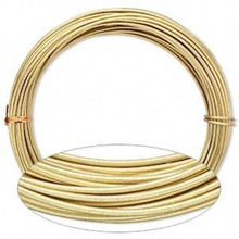 45ft Gold Round Anodized Aluminum Wire for Wire Wrapping  *12 gauge