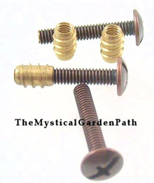 20 OR 100 Threaded Brass Inserts ~ Create Custom Knobs & More