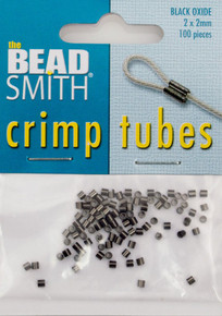 100 Black Oxide 2x2mm Crimp Tube Crimping Beads