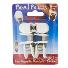6 Regular Bead Bugs with Comfort Grips ~ Hold Beads in Place While Stringing!