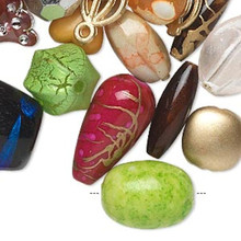 1/2 Pound Acrylic Bead Mix ~ 4x3mm-53x52mm Mixed Shapes & Colors