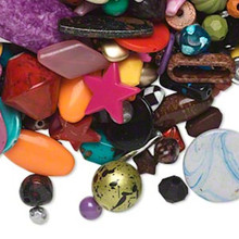 2 Pounds Acrylic Bead Mix ~ Hearts, Stars, Rounds, Ovals & More